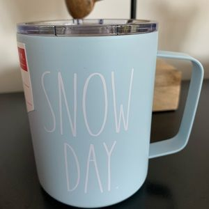 ❄️SNOW DAY powder blue stainless steel double insulated travel mug❄️